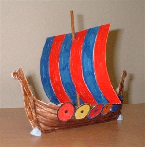 viking longship template template for building a viking longship home school