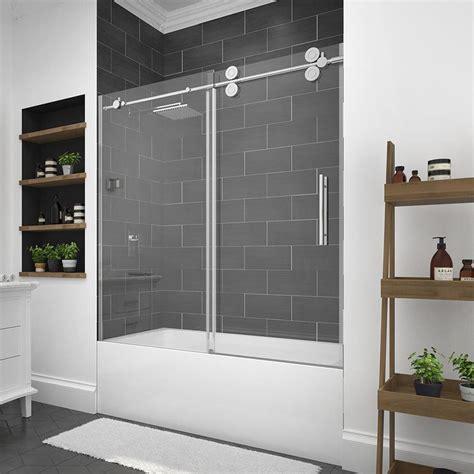 ove bathtub doors shop ove decors sydney 59 5 in w x 59 0 in h frameless