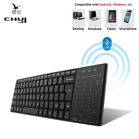 2 3 4 Ultra Slim Bluetooth 3 0 Keyboard Stand New Arrival Bl ultra slim bluetooth 3 0 wireless gaming keyboard touch pad for windows mac ios android
