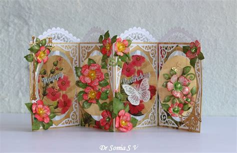 flower dies for card crafters corner easy pop up card flower