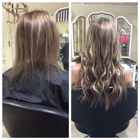 thin hair after extensions hair extensions before and after with natural beaded rows