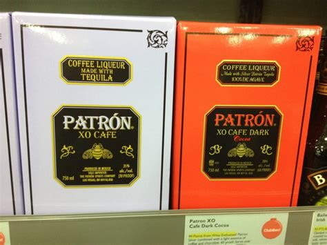 patron xo cafe coffee flavored liquor bro in law likes