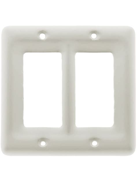 white porcelain light switch covers white porcelain double gfi cover plate