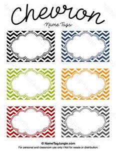 name tag template free free printable chevron name tags the template can also be