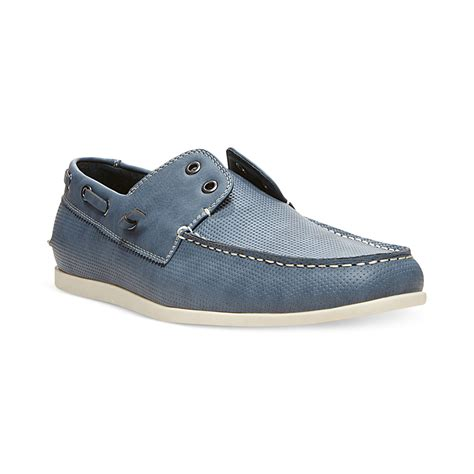 maden shoes steve madden madden on boat shoes in blue for lyst