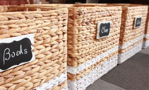 diy chalkboard labels for baskets 15 fabulous organizing ideas for your whole house diy
