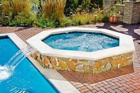 naperville il swimming pool and octagonal tub