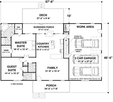56 sq ft ranch style house plan 2 beds 2 50 baths 1500 sq ft plan