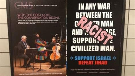 Cover Call In Nyc by Anti Islam Nyc Subway Ads Immediately Covered With