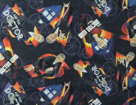 Dr Who Quilt Fabric by Patchwork Quilting Sewing Fabric Dr Who Doctor Material