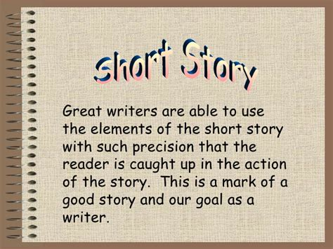 theme in short stories definition short story powerpoint