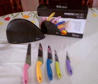 Harga Promo Ox 606 Rainbow Knife Set Oxone oxone ox 606 pisau dapur set pelangi knife set anti karat