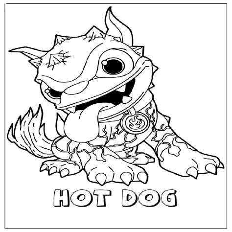 skylanders coloring pages hot dog free coloring pages of hot dog skylander