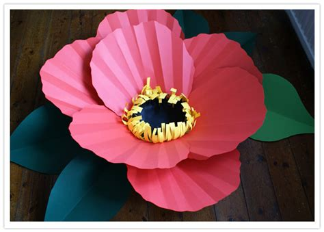 How To Make Flowers With Construction Paper - diy paper flowers by diy projects 100 layer cake