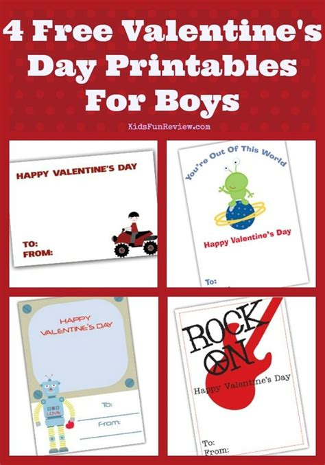 Boys Valentines Day Card Templates by Free Printable Childrens Valentines Day Cards 4