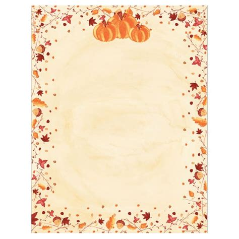 printable autumn stationery microsoft printable thanksgiving stationery related