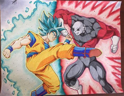 imagenes goku vs jiren goku vs jiren la pelea mas esperada dibujos de dragon