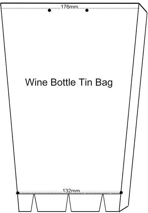 wine bag template classes tin can bag