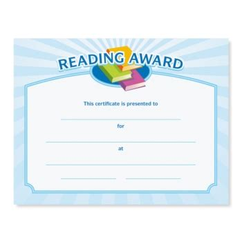 reading certificate template reading certificate template planner template free