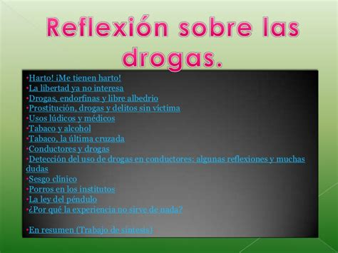 Imagenes De Reflexion Sobre Las Drogas | 8 3 paz jeison ramirez melisa