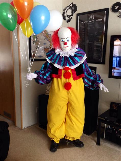It Pennywise Clown Mask Costume tattooed steve s storage unit of terror charland