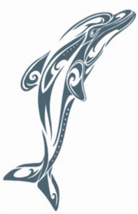 dolphin tribal tattoo tribal dolphin tattooforaweek temporary tattoos largest