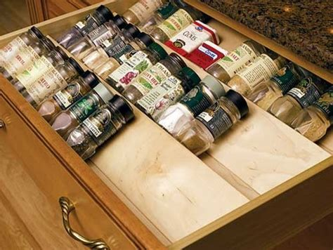 Spice Drawers Kitchen Cabinets Spice Drawer Insert By Omega National Traditional By