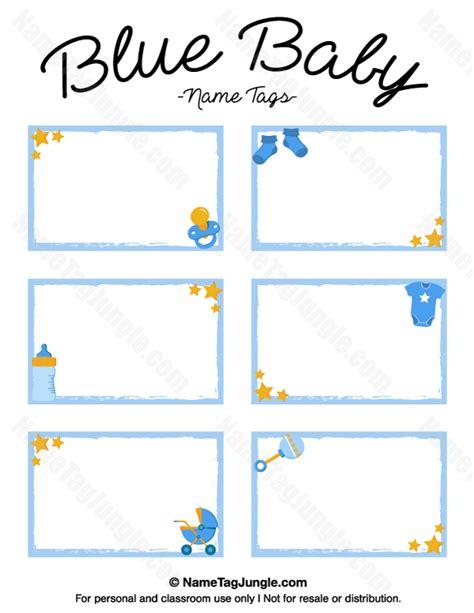 printable name tags for baby shower printable blue baby name tags