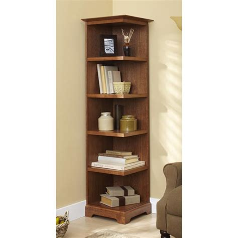 Corner Bookcase Wood Corner Bookcase Woodworking Plan From Wood Magazine