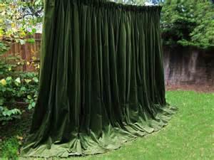 green drapes beautiful moss green goblet pleat genuine vintage velvet