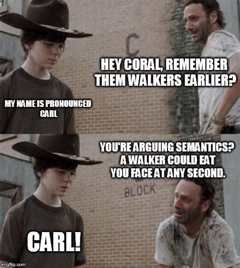 Hey Carl Meme - rick and carl meme imgflip