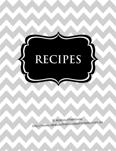 black and white binder cover templates editable recipe binder printable grey black recipe sheet