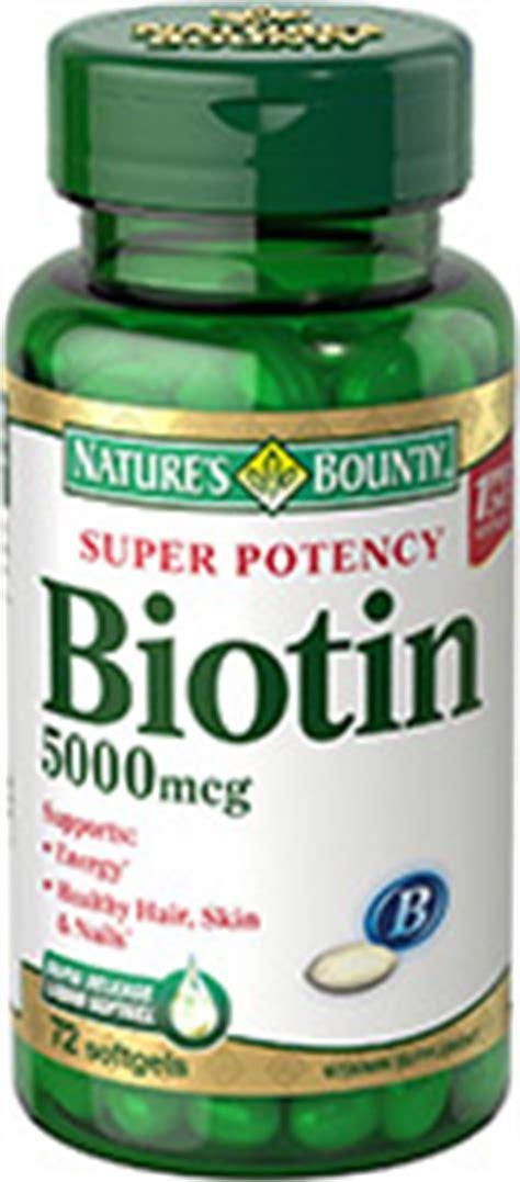 Suplemen Vitamin Nutrisi Biotin 5000 Mcg 60 Softgels Utk potency biotin 5000 mcg 60 softgels nature s bounty be your healthy best