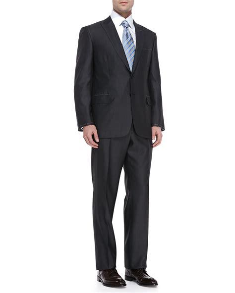 pattern grey suit brioni tic pattern suit in gray for men lyst