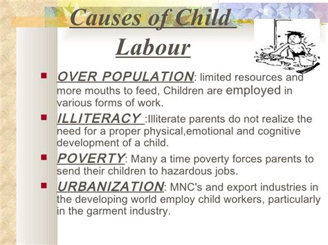 Child Labor Essay Causes And Effects by Child Labour Project