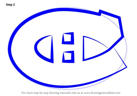 draw logo learn how to draw montreal canadiens logo nhl step by