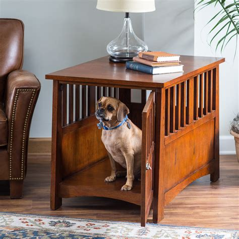 large kennel end table boomer george everett mission pet crate end table end