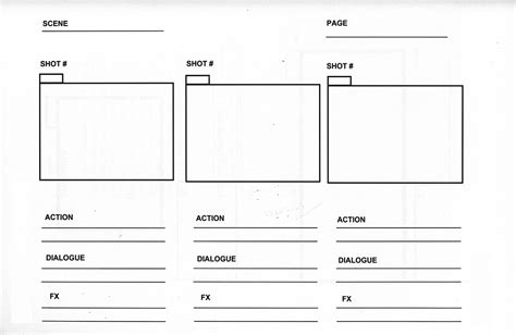 storyboard template free program design and implementation scenarios and