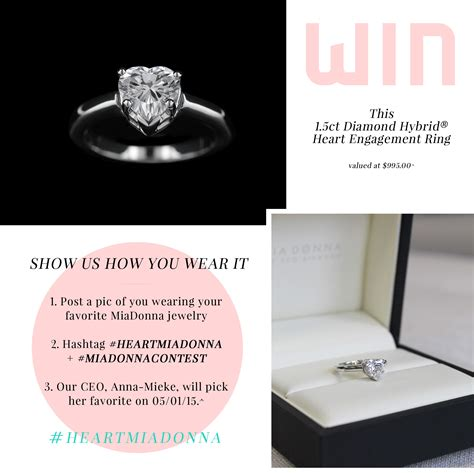 Giveaway Hashtags - heart engagement ring giveaway miadonna diamond blog miadonna 174 the future of