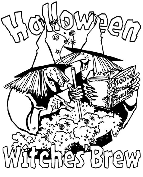 coloring pages halloween crayola halloween witches brew coloring page crayola com