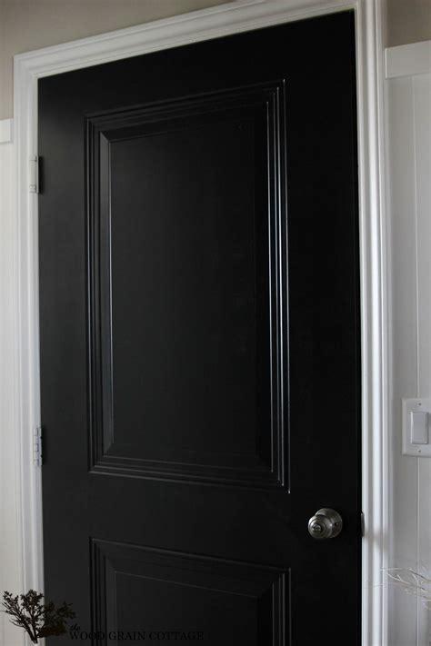 Black Door by Black Mudroom Door The Wood Grain Cottage