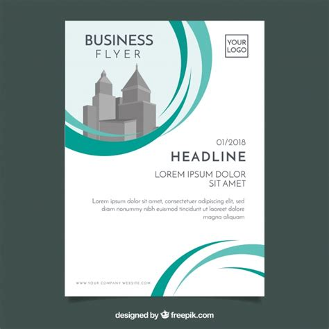 business flyer design vector free download white and green business flyer template vector free download