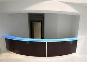 Reception Desk Glass Glass Reception Desk Modern Ta By Downing Designs