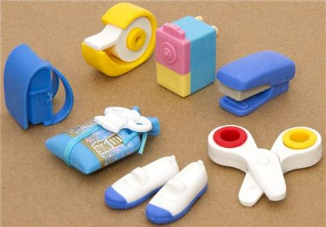 school rubber sts iwako erasers school supplies 7 pieces rubber set
