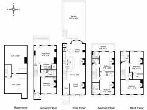 New House Blueprints New York Brownstone Floor Plans House I Ll Build Some