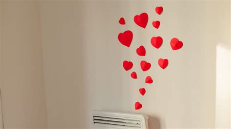 heart decorations home diy how to make simple 3d heart wall decoration in 15min