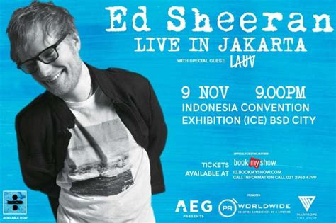ed sheeran indonesia cancelled pr worldwide events asia
