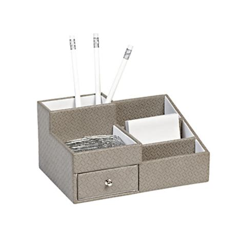 Office Depot Desk Organizers Realspace Fabric Textured Desk Organizer Gray By Office Depot Officemax