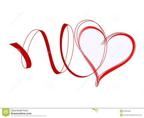 heart with ribbons royalty free stock photos image 29025588