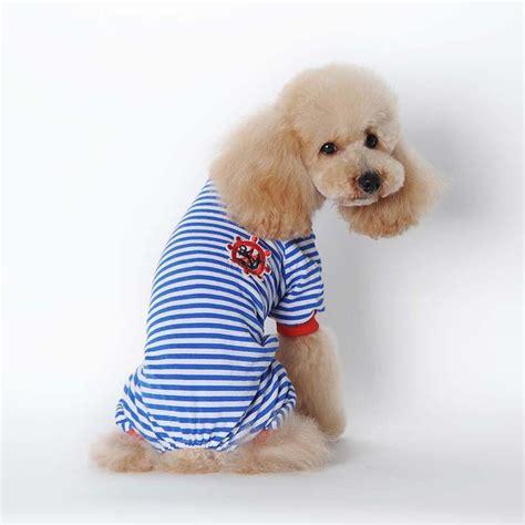 Pet Jumpsuit pet stripe pajamas coat cat puppy pets